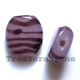 Bead, lampworked glass, 15x6mm. Pkg of 6.