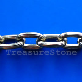Chain, aluminum, gunmetal,10x15mm oval - By meter